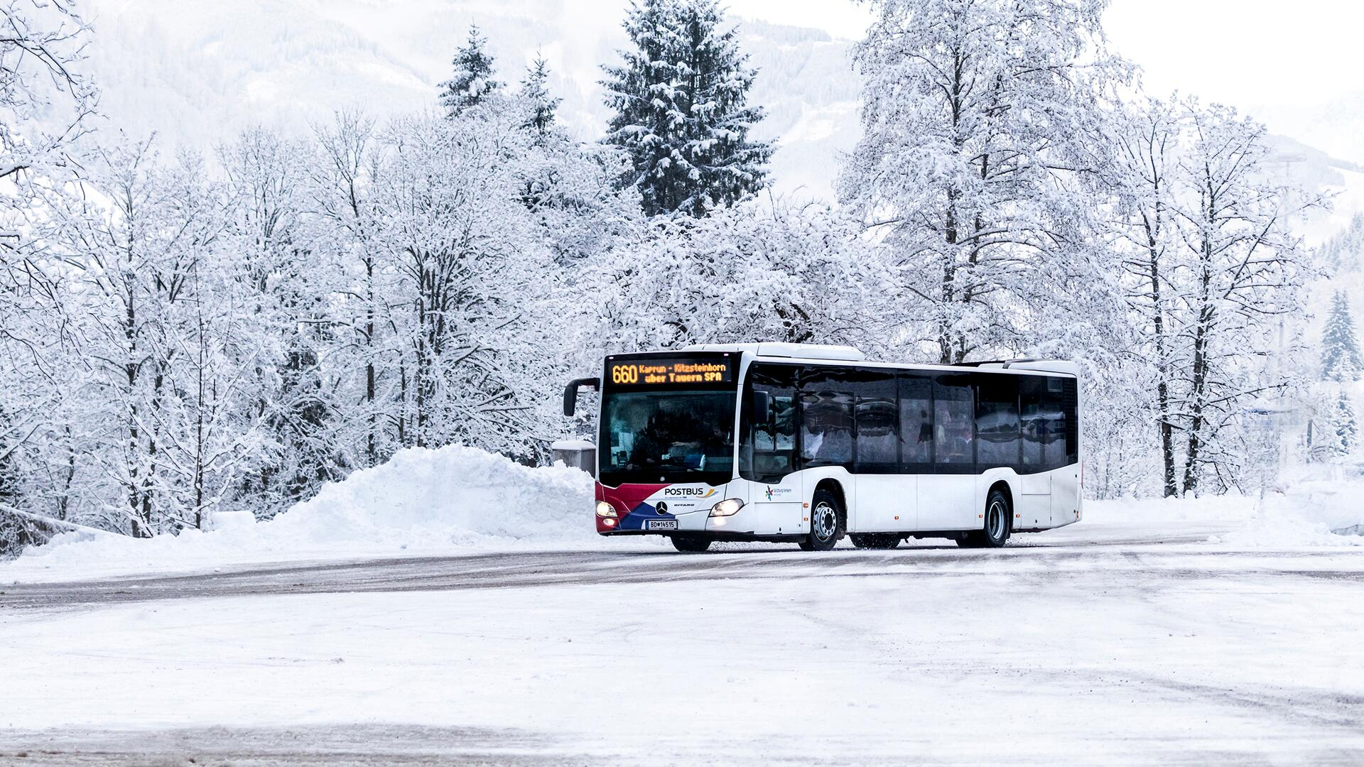 Different bus lines will bring you comfortably, safely and, above all, totally relaxed to the valley lift stations | © Kitzsteinhorn