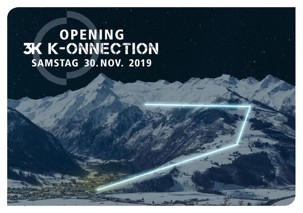 On 30 November 2019, an attention-getting light show will illuminate the new K-ONNECTON, making it visible far across the valley. An evening ride on the illuminated lifts from Kaprun, over the Maiskogel and up to the Kitzsteinhorn/Langwied is guaranteed to be an exclusive, once-in-a-lifetime experience for all guests at the opening.  | © Kitzsteinhorn