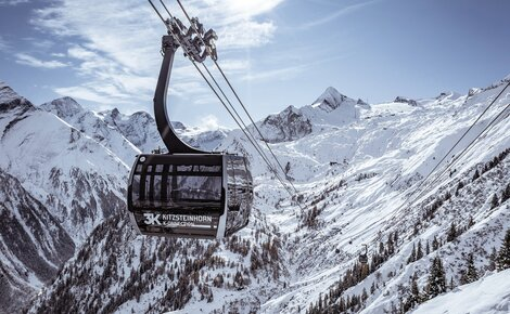 On 30 November 2019, the 3K K-onnection goes into operation and will connect the Maiskogel with the Langwied area on the Kitzsteinhorn. With the opening of the new 3K K-onnection, Salzburg's first tri-cable gondola, the Kaprun - Maiskogel - Kitzsteinhorn link will finally be completed. The 32 ATRIA panorama cabins by CWA offer passengers an extraordinary ride. | © Kitzsteinhorn