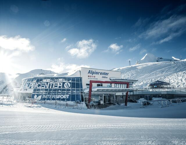 Alpincenter with InfoService, SB Marktrestaurant, Sportshop, Skyline Bar, Schirmbar Parasol | © Kitzsteinhorn