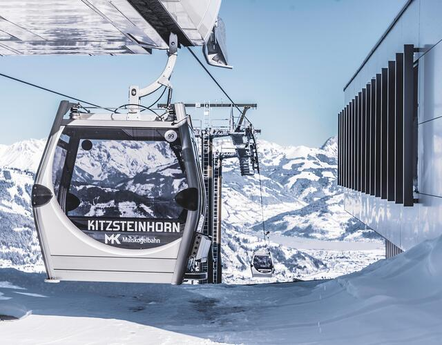 The new 10-passenger mono-cable gondola – consisting of 123 cabins and taking just twelve minutes to rise to the top – will be able to transport as many as 2800 people per hour. | © Kitzsteinhorn