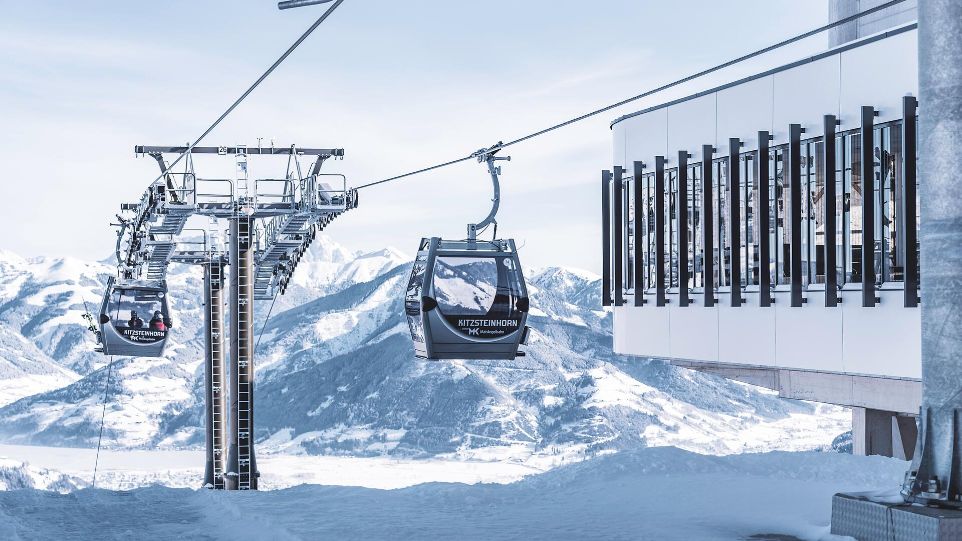 Travel up to the Maiskogel from the centre of Kaprun with the new, enhanced-quality MK Maiskogelbahn. | © Kitzsteinhorn