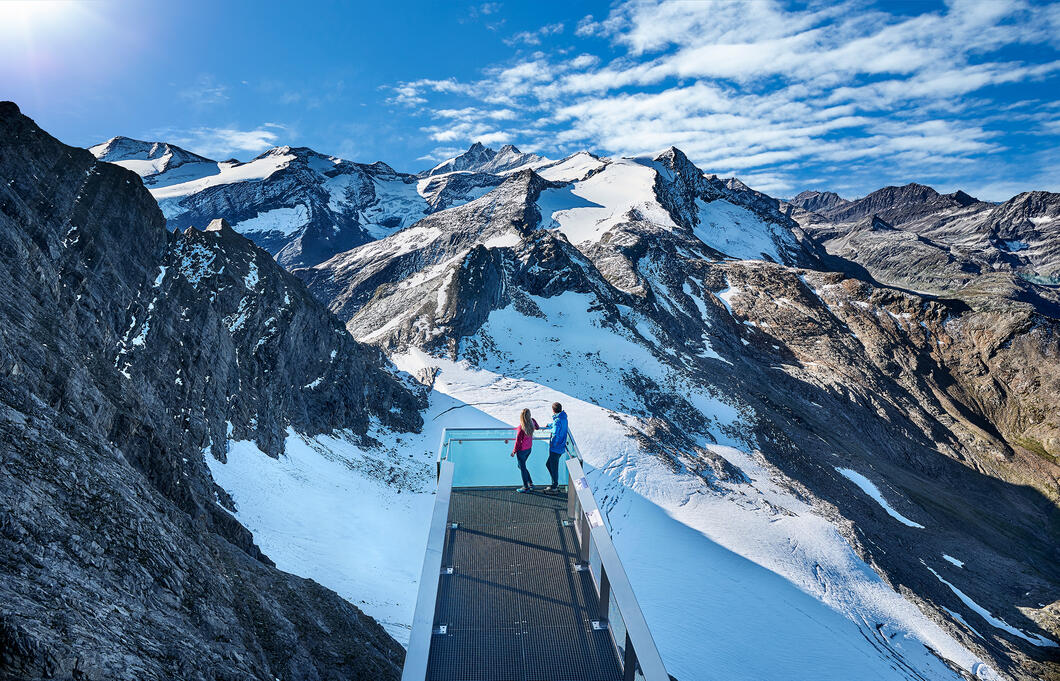 Nationalpark Gallery Panoramic Platform at Kitzsteinhorn | © Kitzsteinhorn