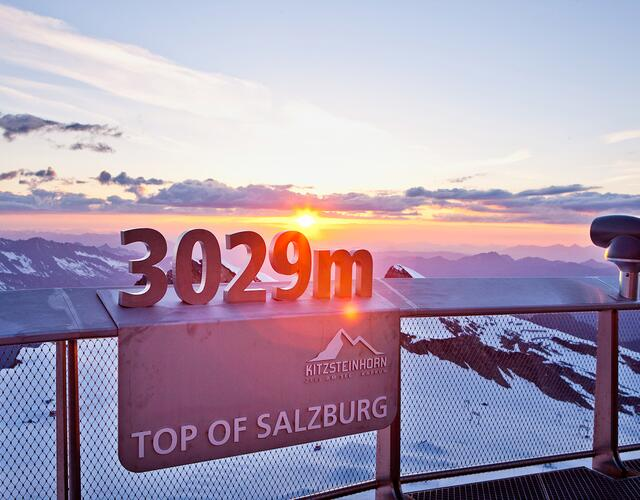 "At 3,029 m in altitude your are really at the ""Top of Salzburg"" 