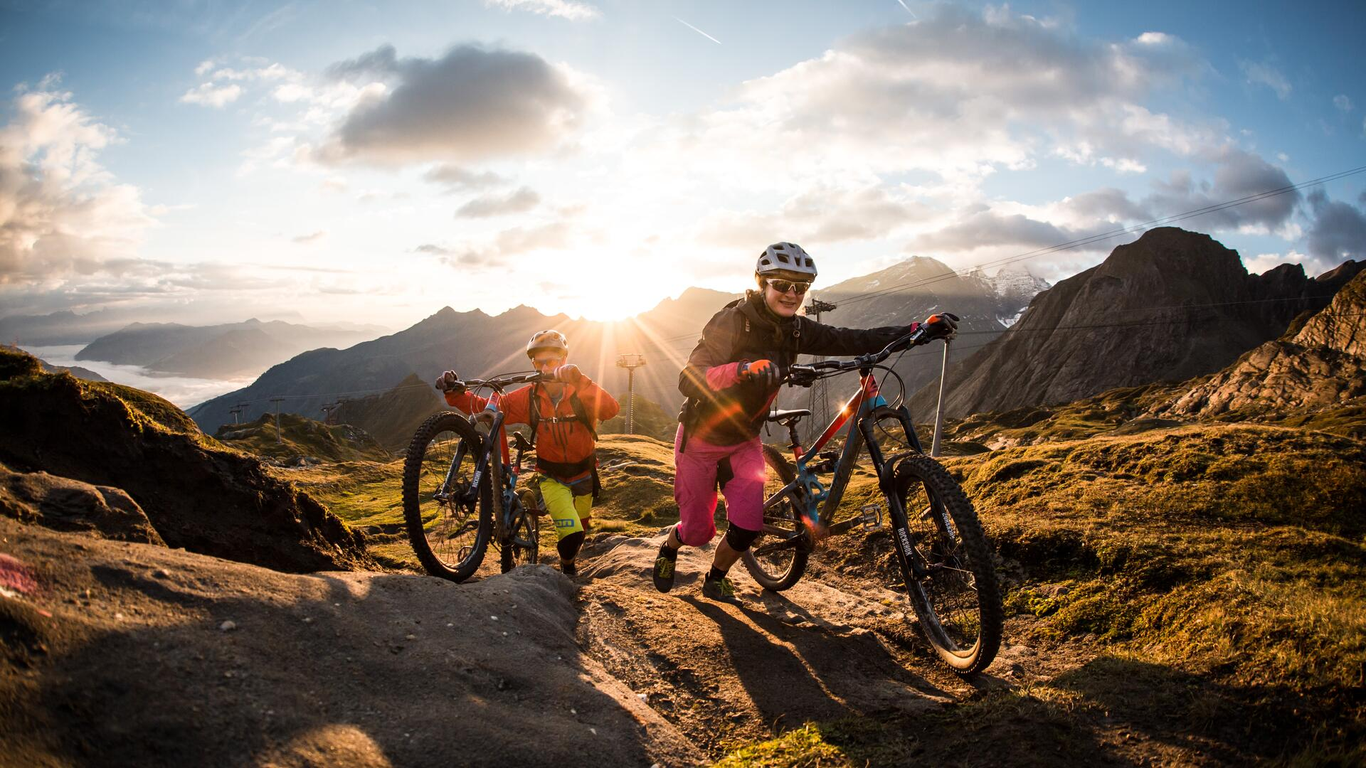 A paradise for mountain bikers, freeriders, uphillers and E-bikers | © SalzburgerLand - David Schultheiss for WOM Medien