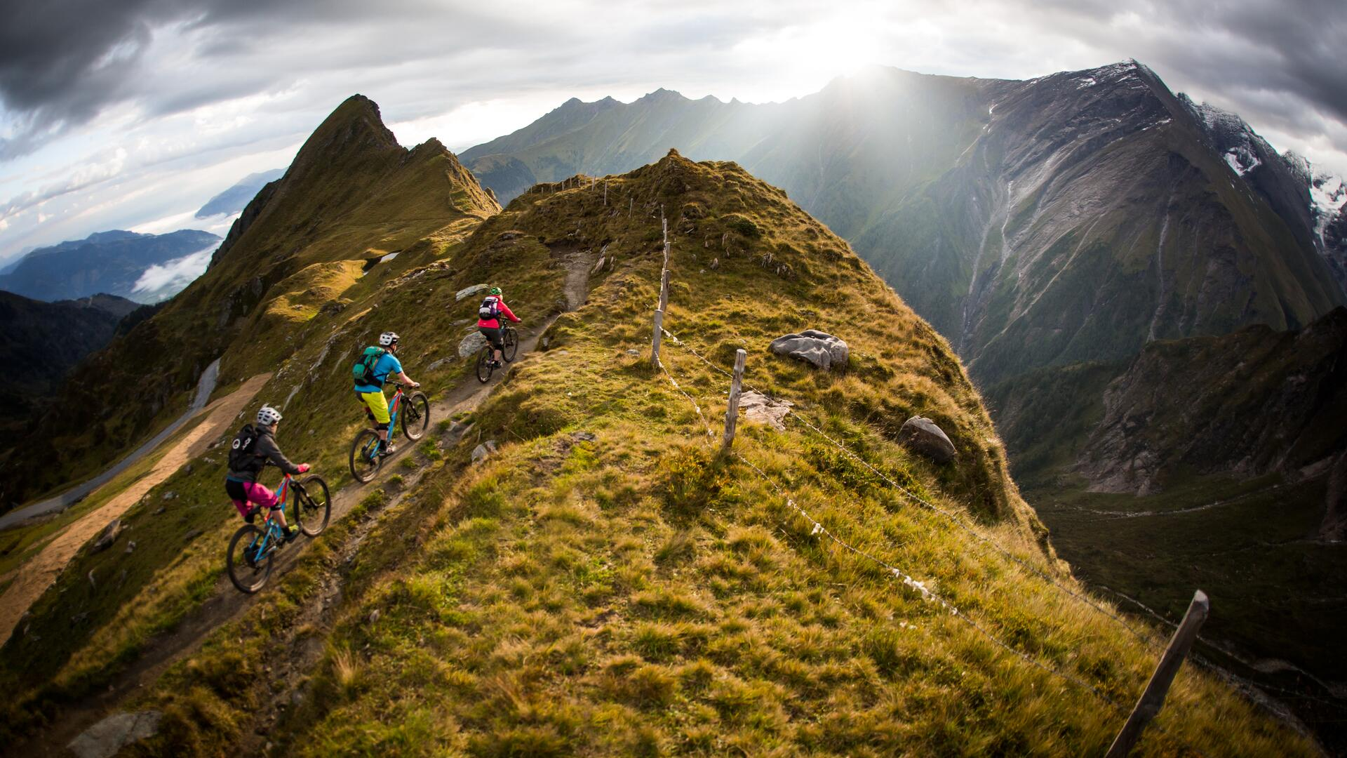 From high alpine to natural, three trails demand stamina from freeriders | © SalzburgerLand - David Schultheiss for WOM Medien