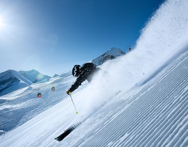 Maximum gradient of 63% – ideal for all experts who like it steep! | © Kitzsteinhorn