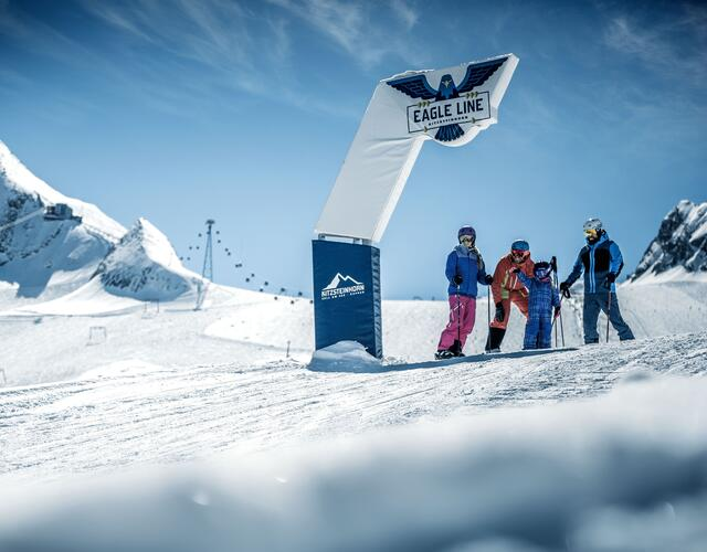 "The ""Eagle Line"" fun piste guarantees cries of joy from children – but big adventurers and snow park beginners let the happiness hormones take over here too"