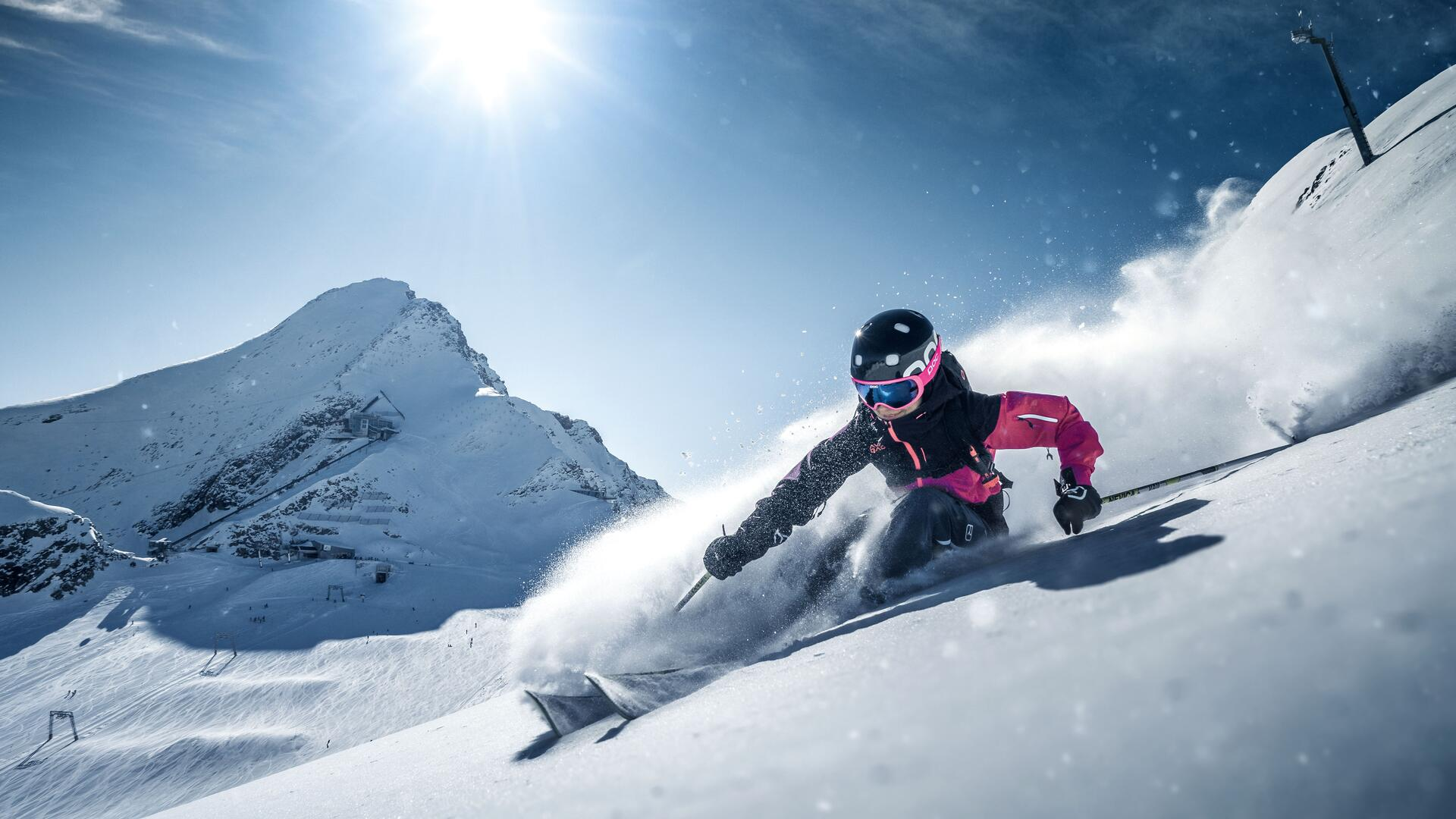 Skiing and freeriding with snow guarantee at the glacier ski area Kitzsteinhorn | © Kitzsteinhorn