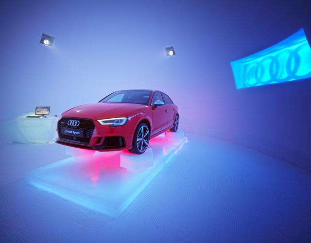 In 2018, a bright red Audi RS 3 waited as a surprise in the Audi showroom