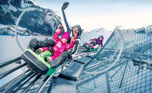 All-year tobogganing fun at the Alpine Coaster
